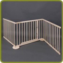 Expansible safety gate room divider playpen 180-240cm, wood, 3 elements, img 1 - Veiligheidshekjes en boxen