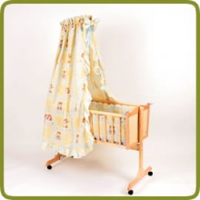 Cradle incl. bedlinen set yellow  - Wiegen en schommelen