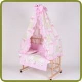 Bed side cot all inclusive 90x40cm, rose - Bedden